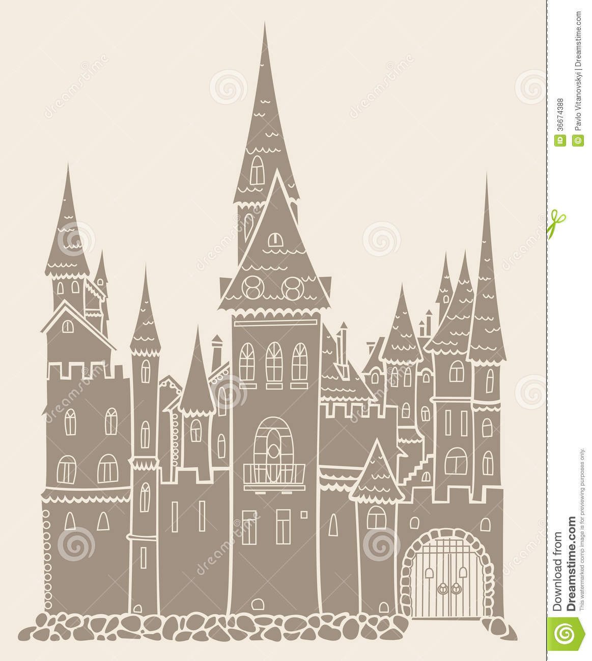 Old Medieval Castle Like A Crown Royalty Free Stock Photos