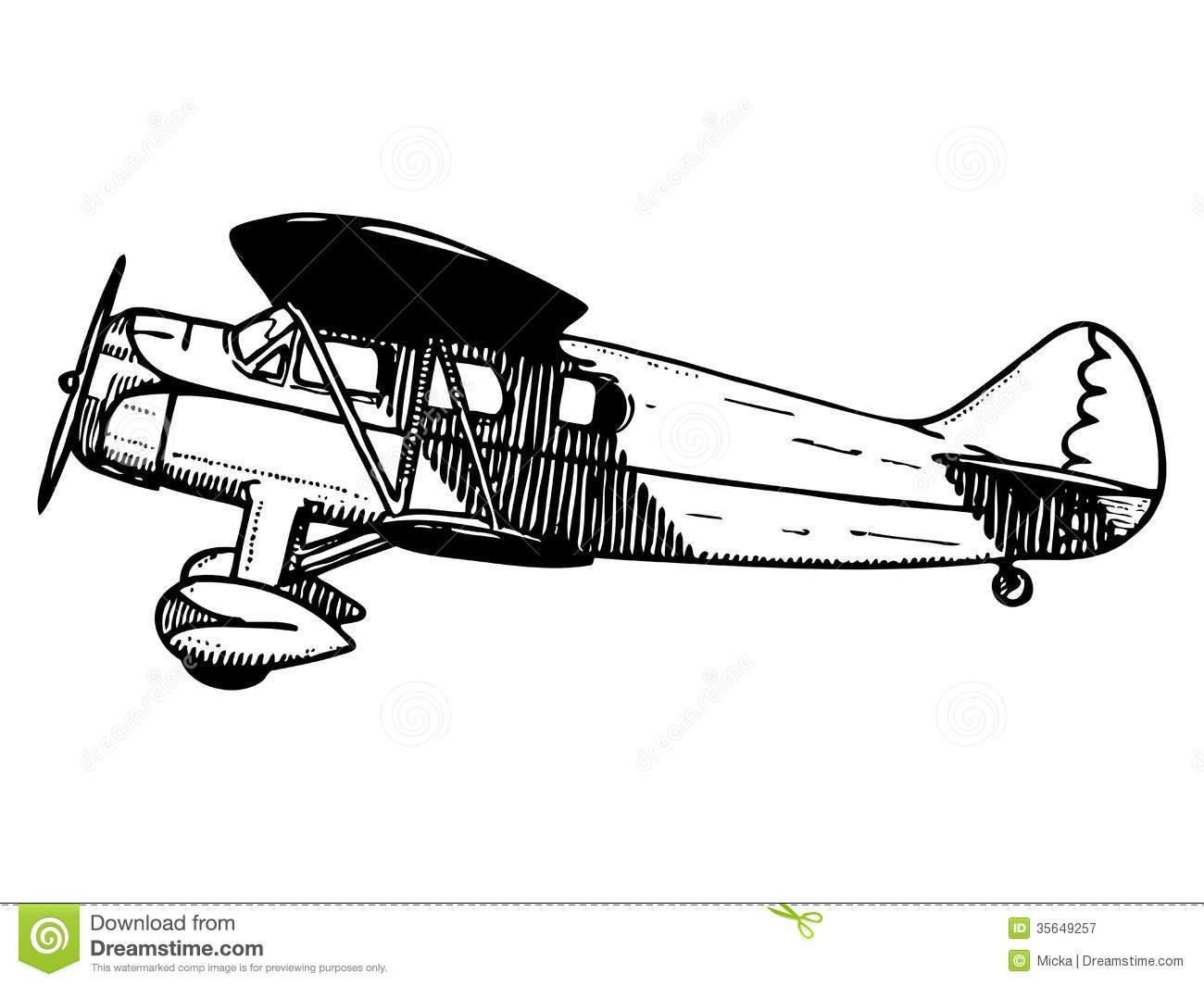 Old Passenger Plane Royalty Free Stock Photography