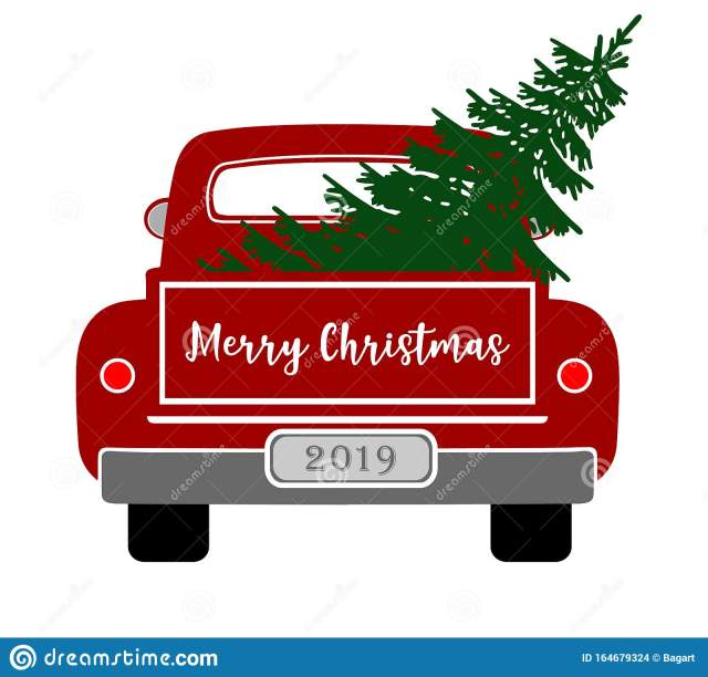 Old Truck Christmas Tree Stock Illustrations – 30 Old Truck