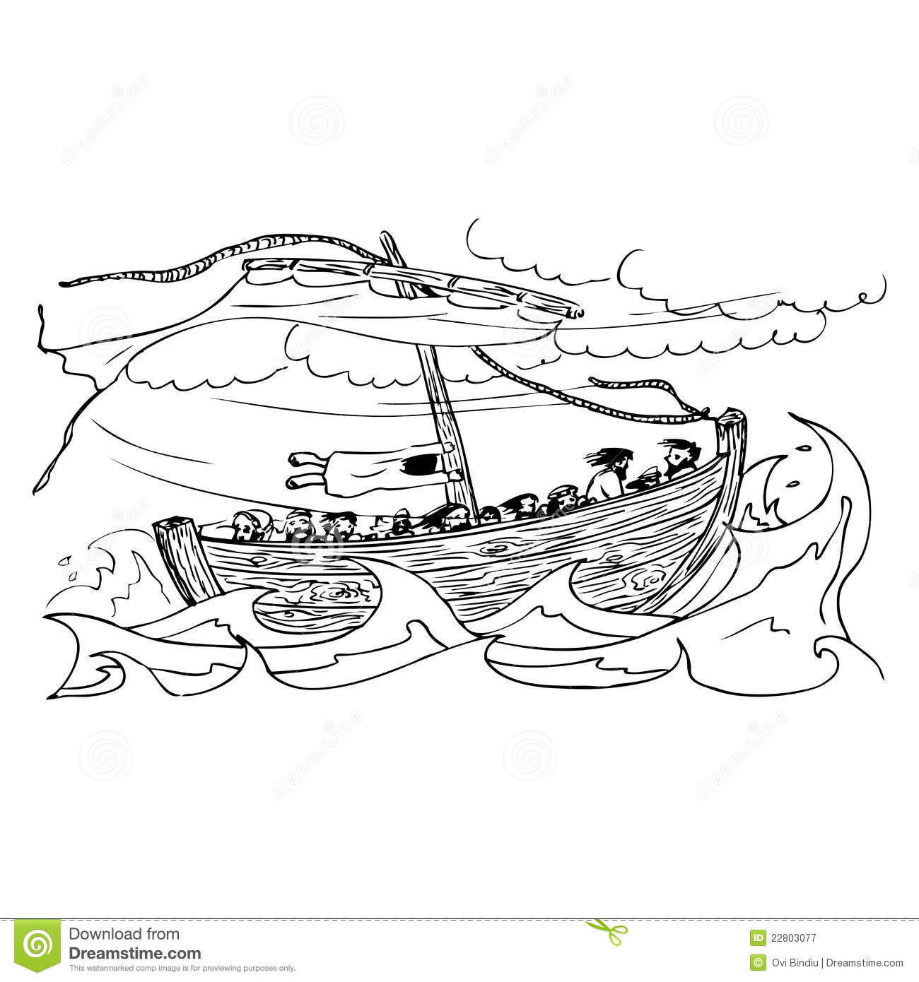 Sailing Ship And The Storm Stock Photography