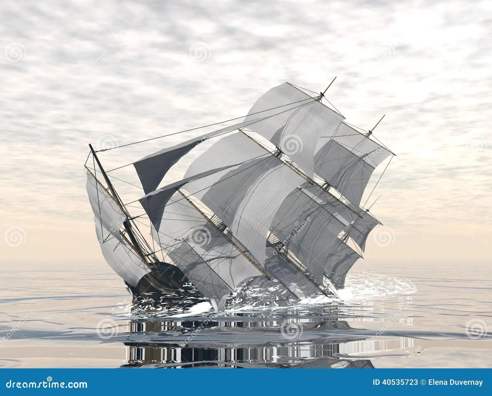 Old Ship Sinking