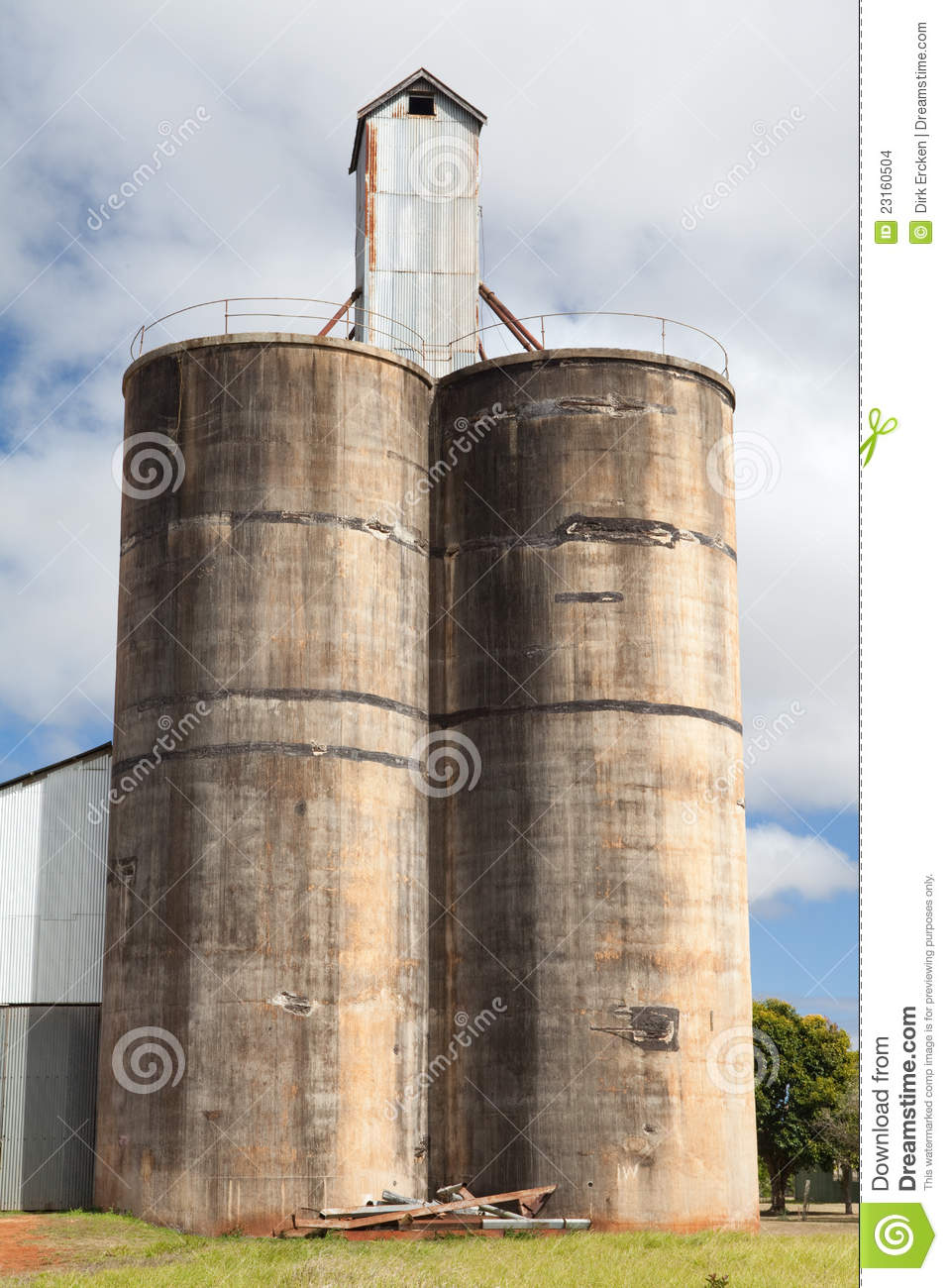 Old Silo Stock Images Image 23160504