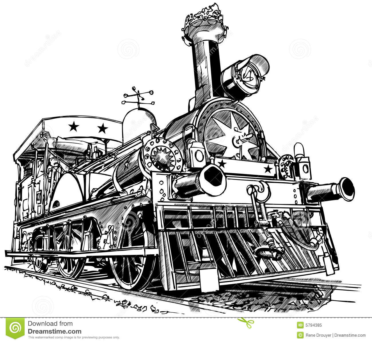 Old Steam Train Stock Vector Image Of Iron Illustration