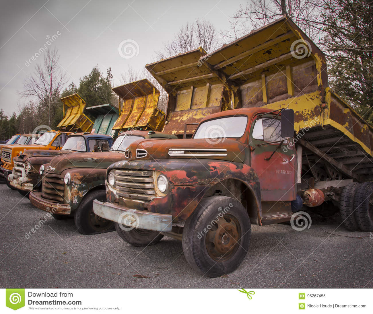 Old Trucks From Another Era Editorial Image