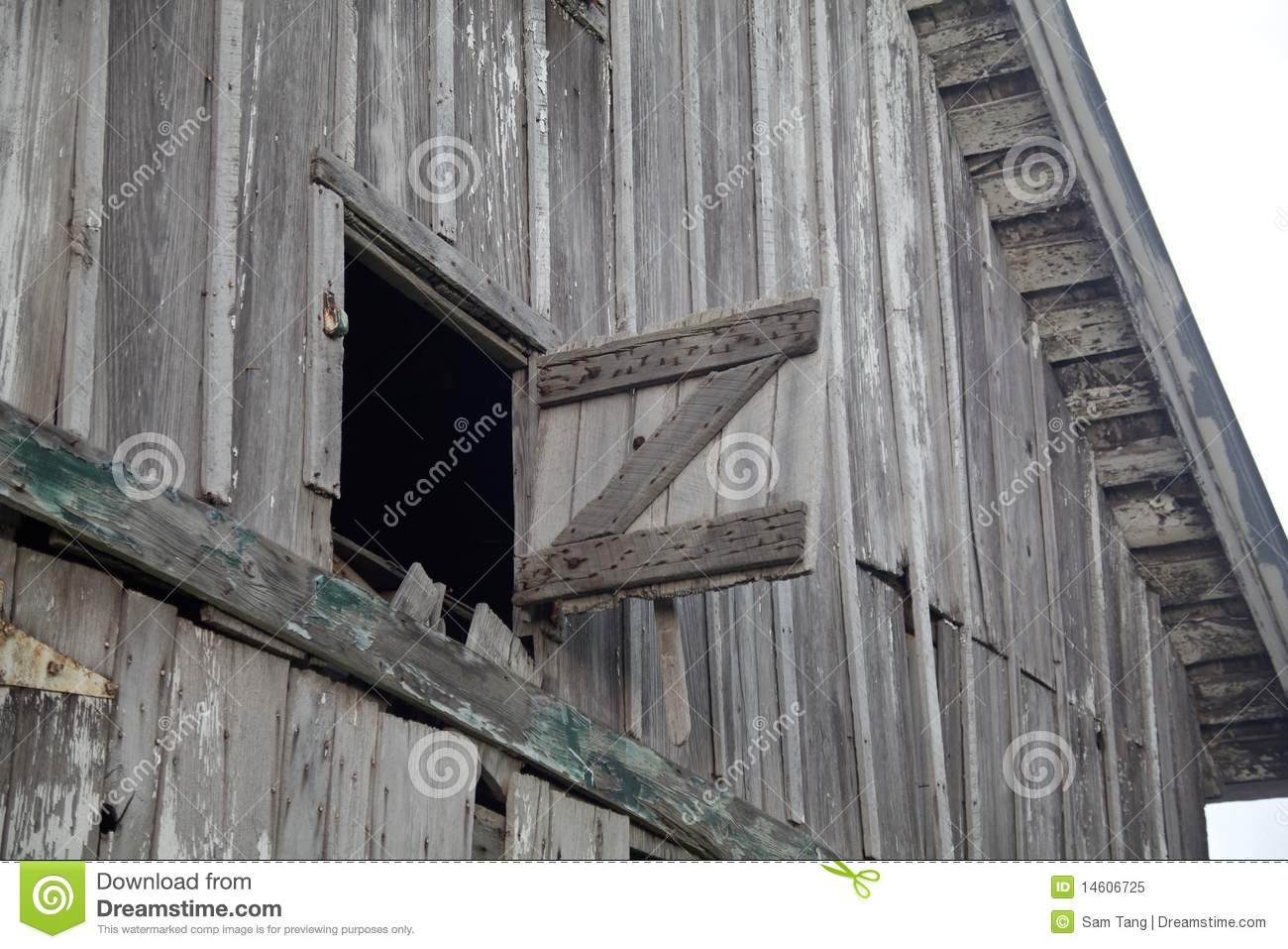 Old Weathered Gray Barn Open Hay Loft Royalty Free Stock