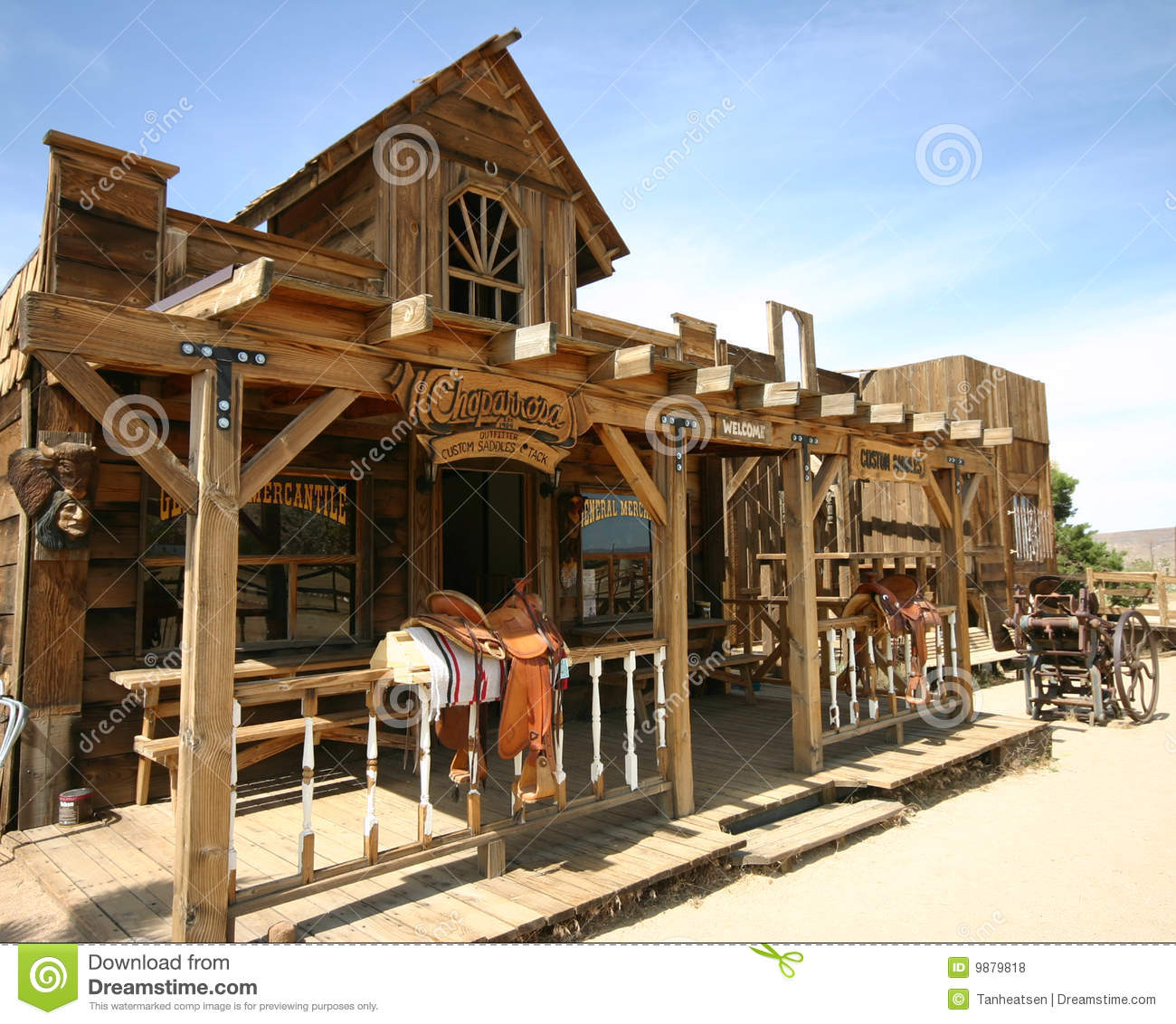 Old Western Town Stock Photos