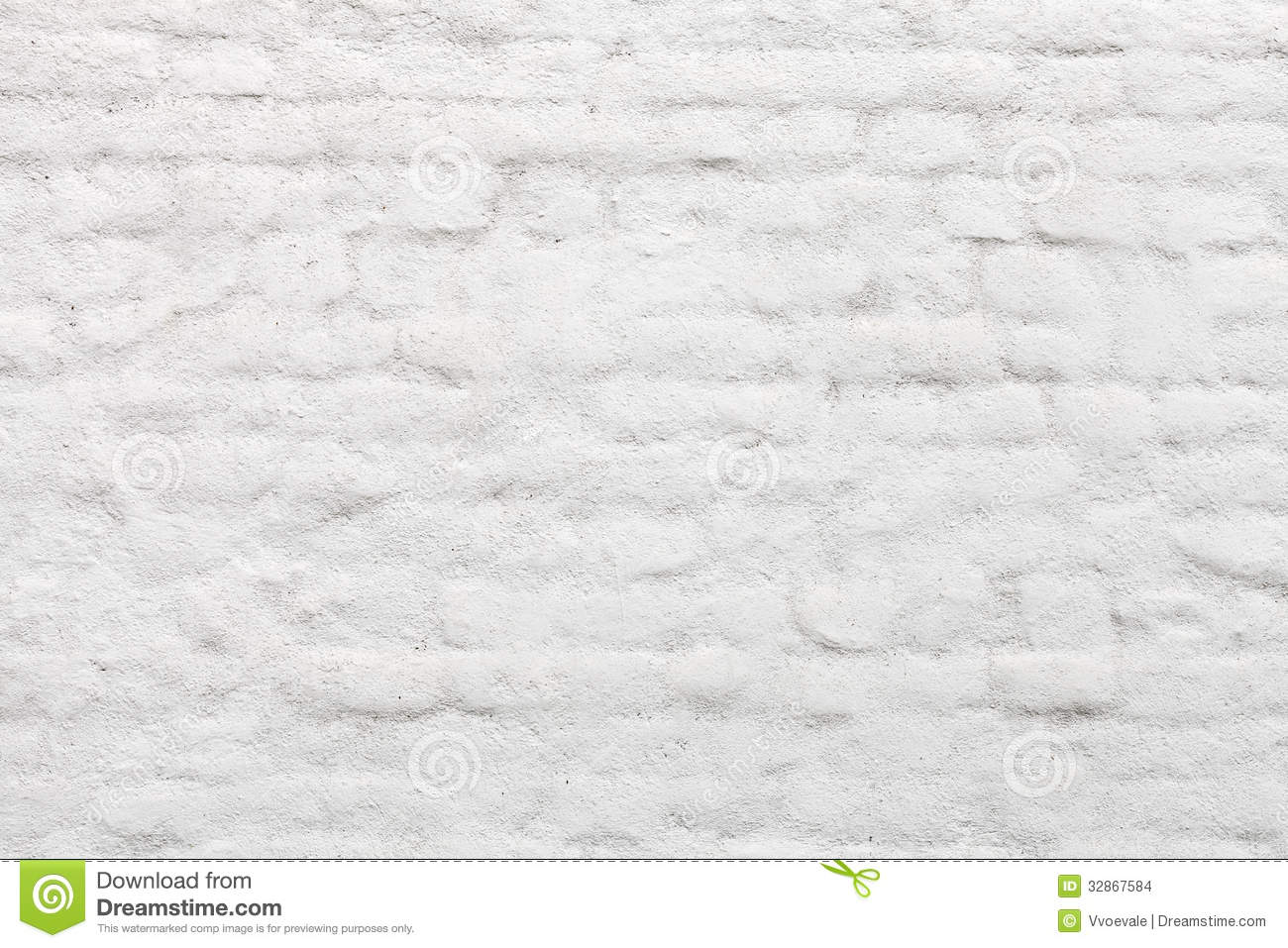 Old White Painted Brick Wall Stock Images