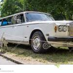 Old White Rolls Royce Limousine With Three Set Of Wheels Editorial Stock Image Image Of Display Wheels 94407179
