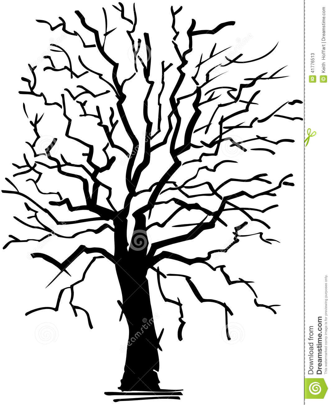 Old Withered Tree Cartoon Vector Clipart Stock Vector