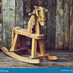 Old Wood Rocking Horse On Wood Stock Image Image Of Texture Horse 20661383
