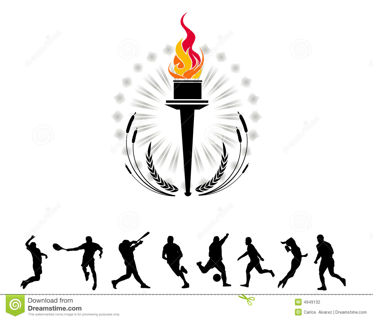 Olympic Torch Stock Illustration Illustration Of Fire