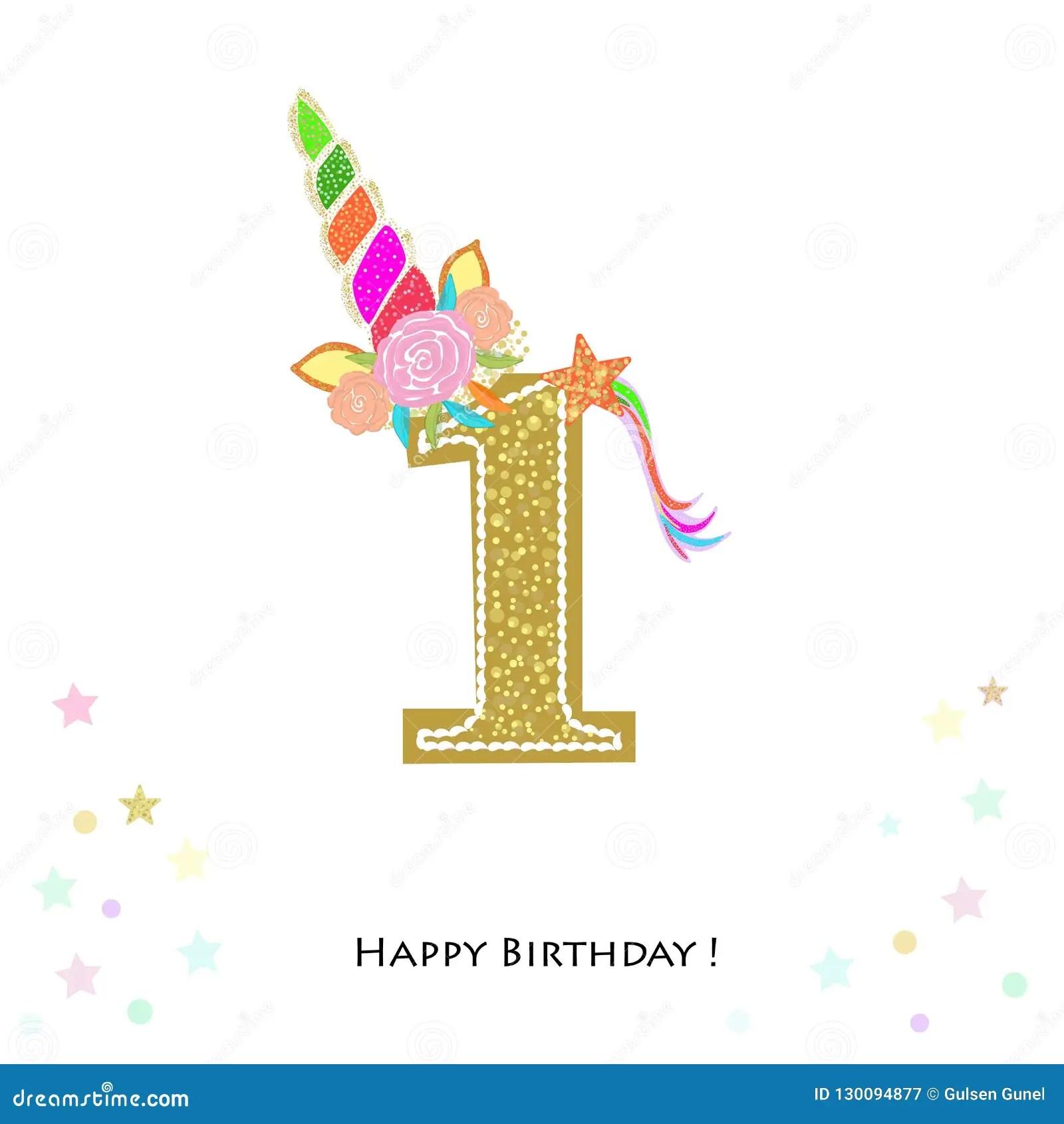 https www dreamstime com one first birthday colorful unicorn birthday invitation baby shower party invitation greeting card one first birthday colorful image130094877