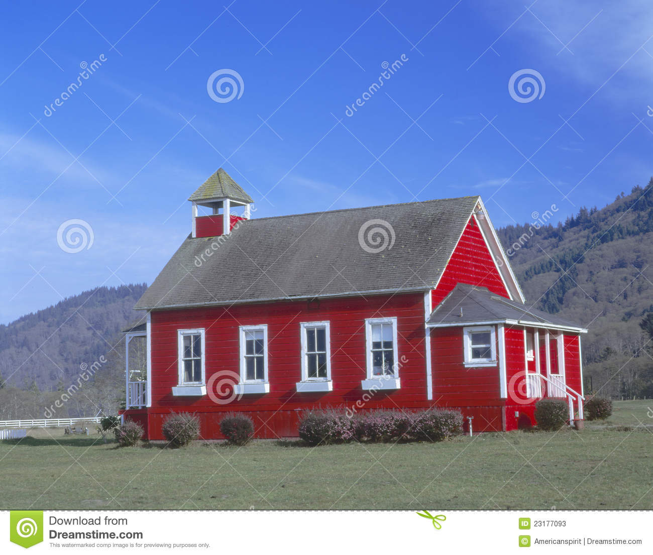 One Room Schoolhouse Stock Image Image Of Exterior