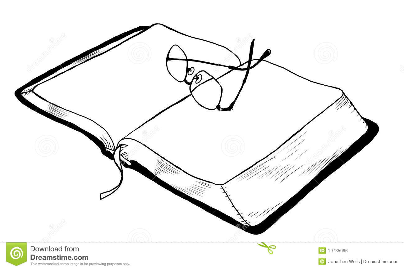 Open Book With Glasses Stock Illustration Illustration Of