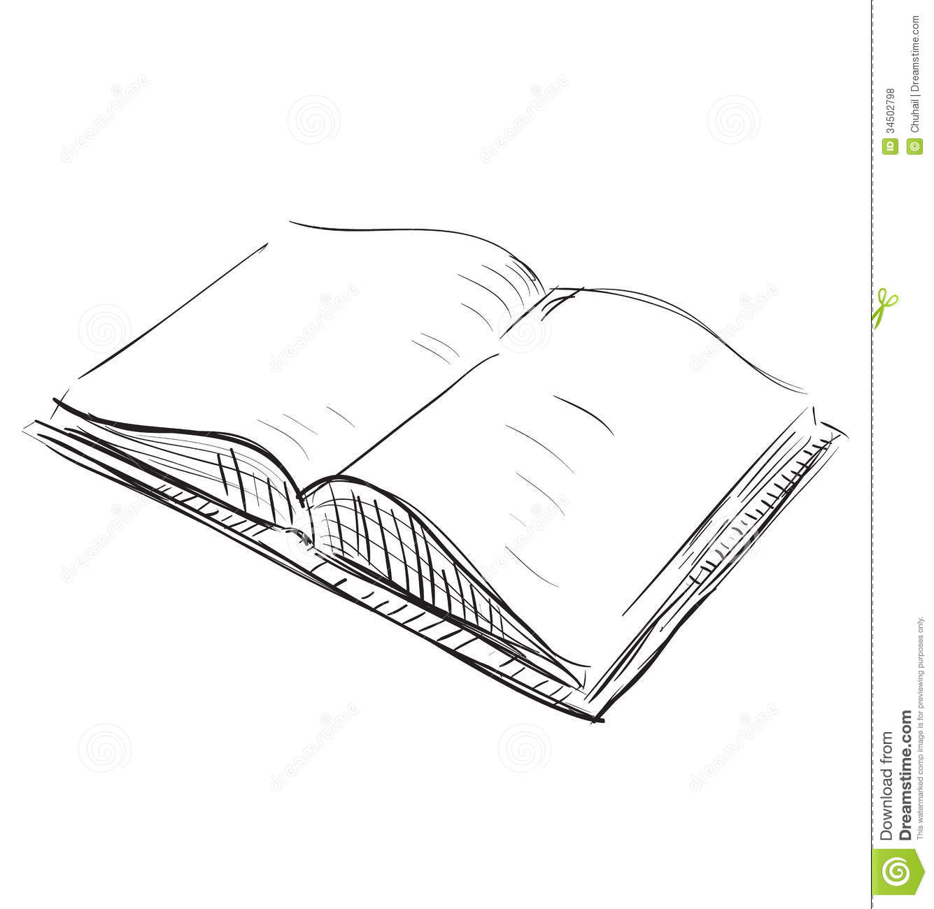 Open Book Sketch Icon Illustration Royalty Free Stock