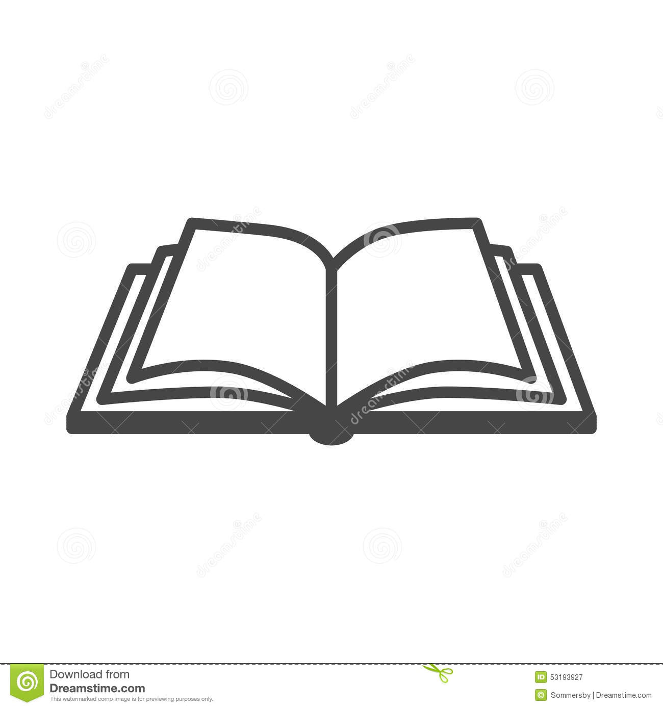 Open Book Vector Icon Stock Vector Image Of Collection
