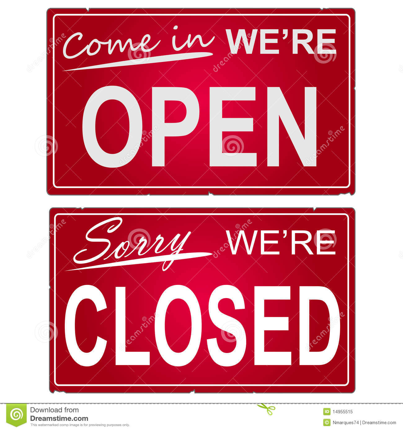 Business open closed sign template printable flashek Gallery
