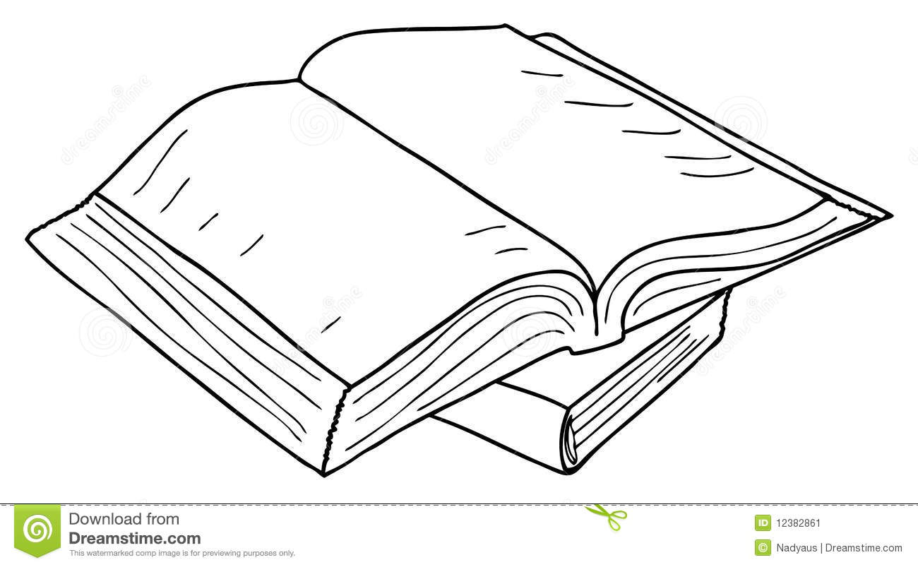 Opened Book Sketch Vector Stock Vector Illustration Of