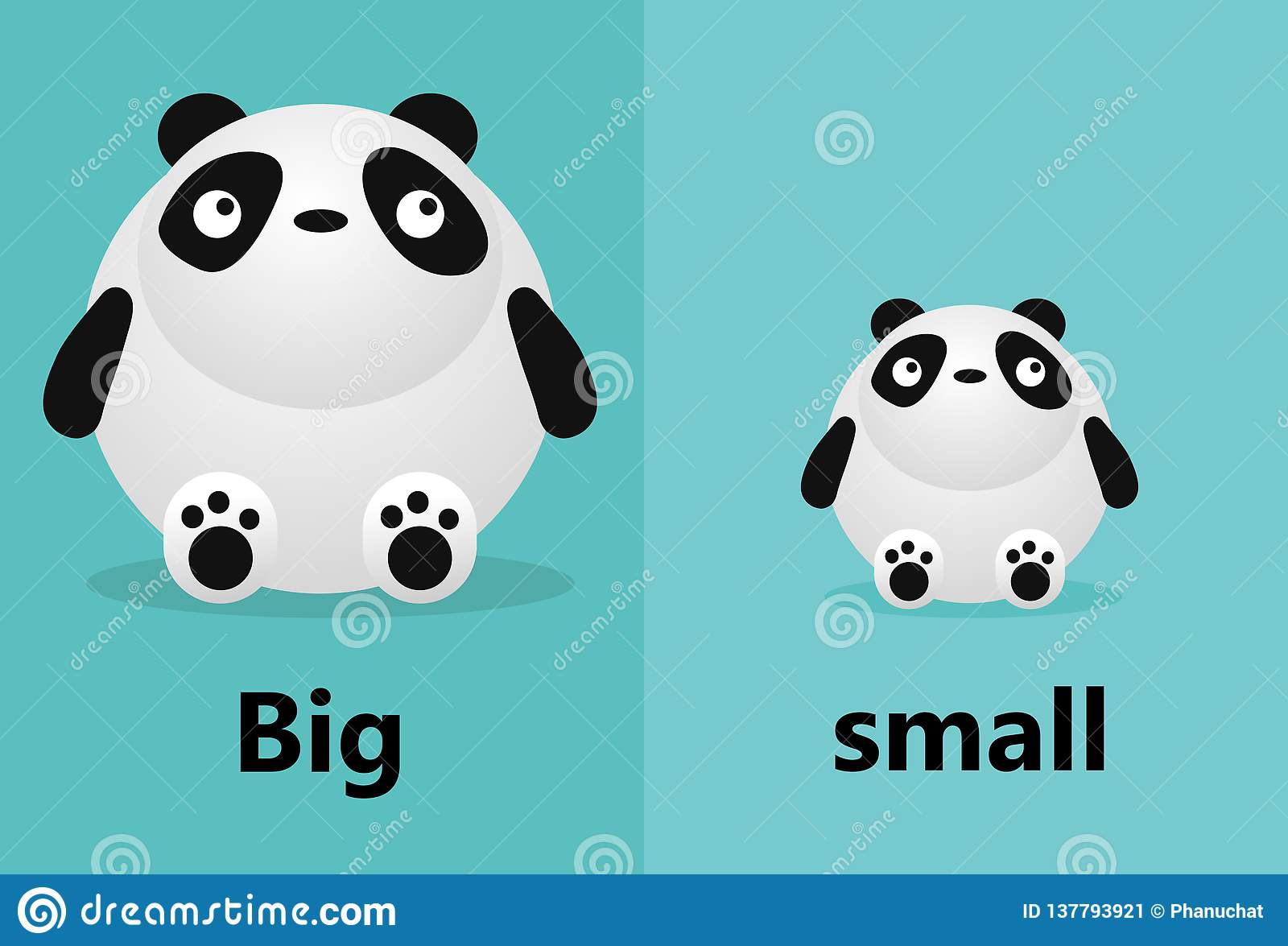 Opposite Big And Small Opposite English Words Big And
