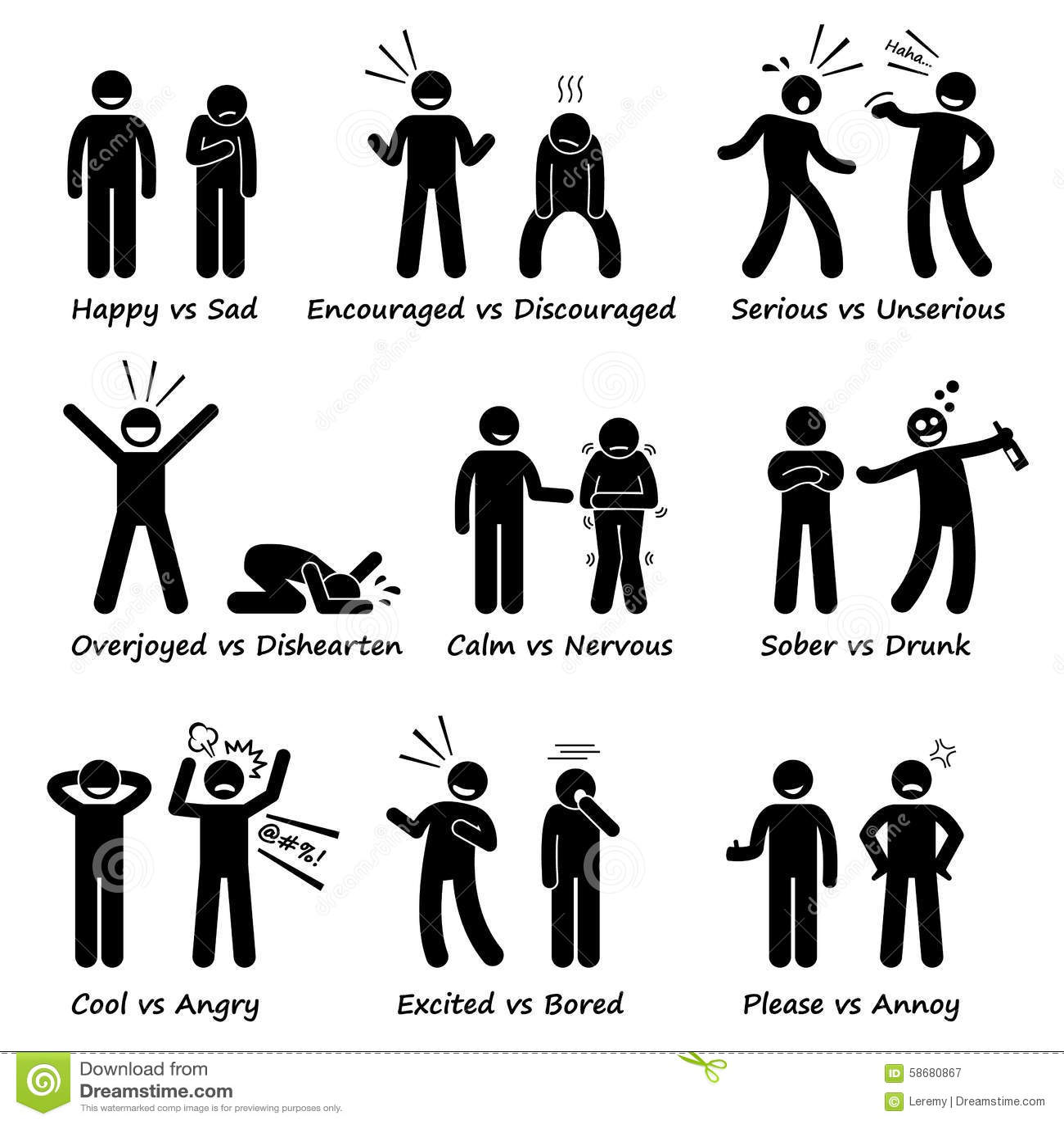 Opposite Feeling Emotions Positive Vs Negative Actions