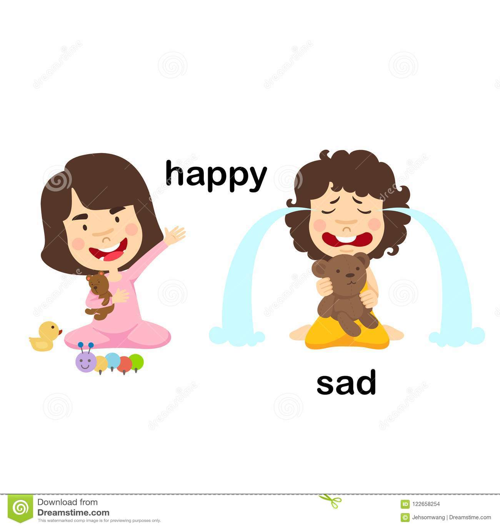 Happy Sad Stock Illustrations 39 336 Happy Sad Stock