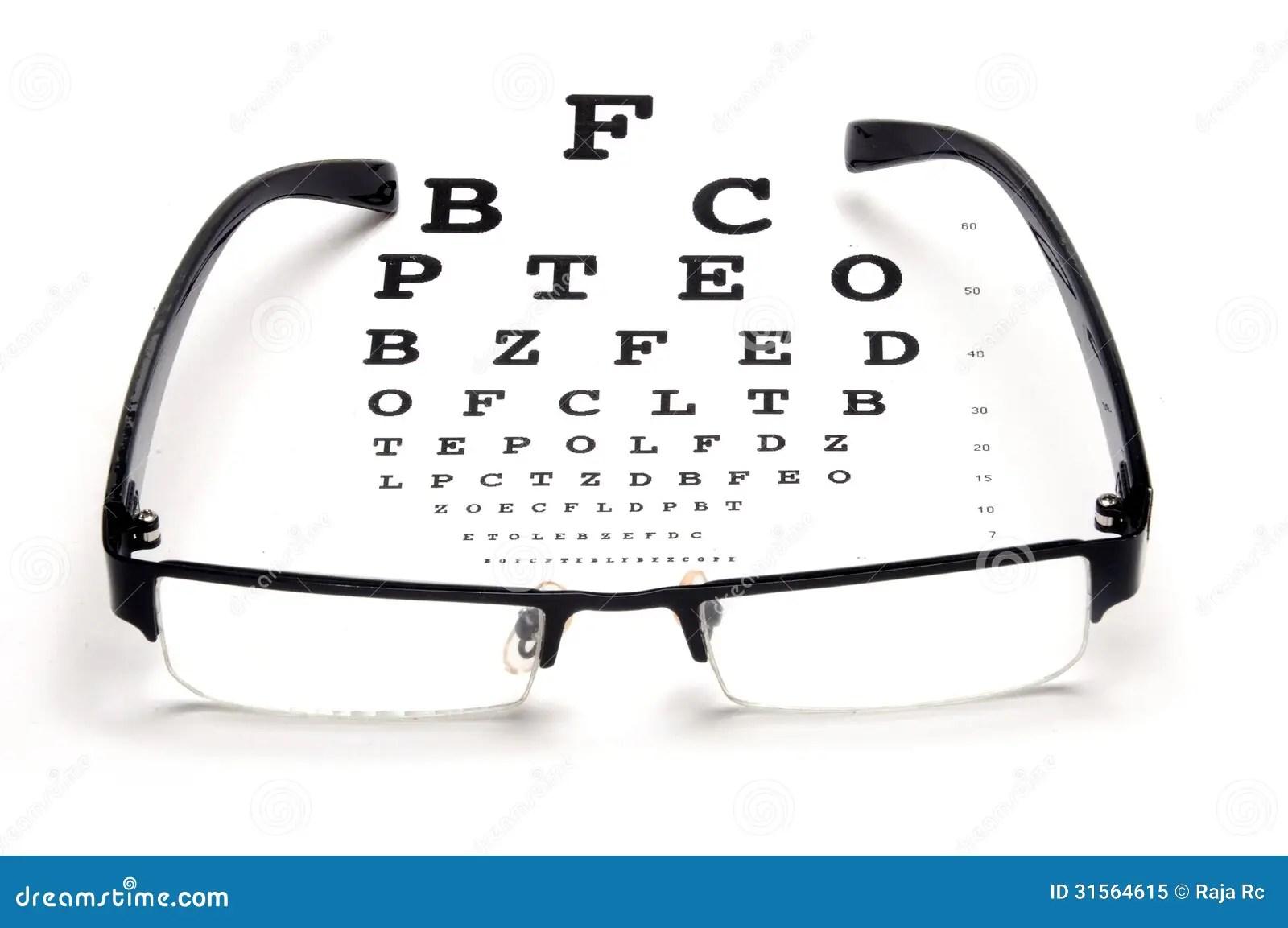 Optical Test Royalty Free Stock Photo