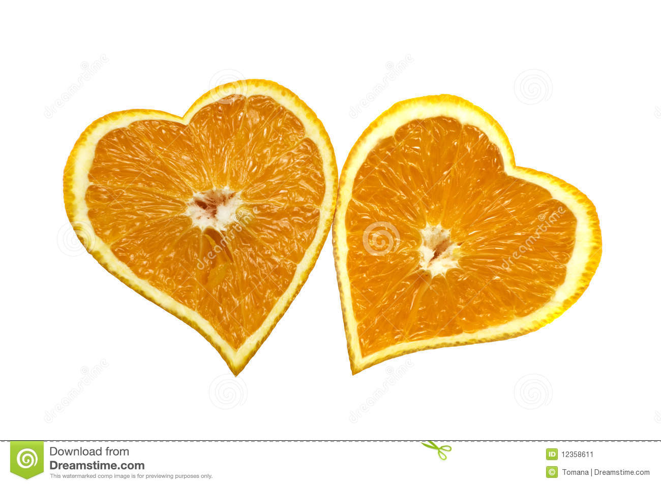 Orange Hearts Love St Valentines Day Concept Stock