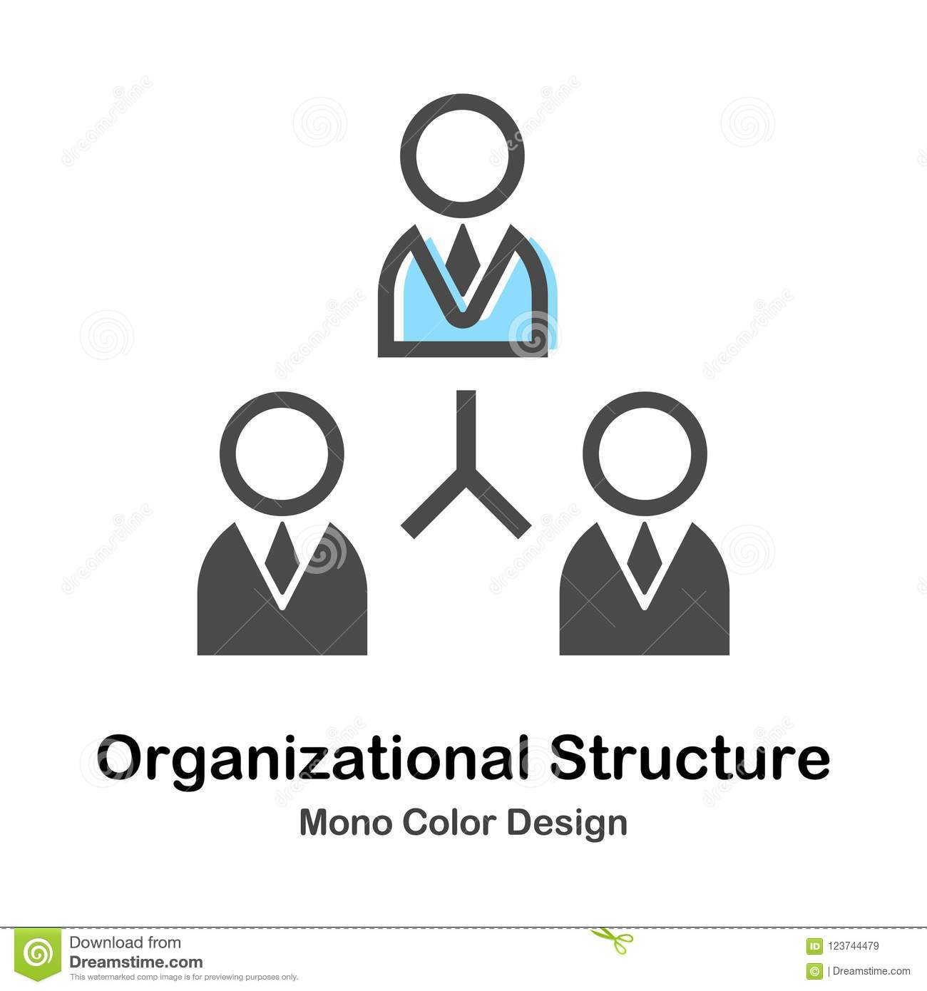 Organization Corporate Chart Company People Cartoon Vector