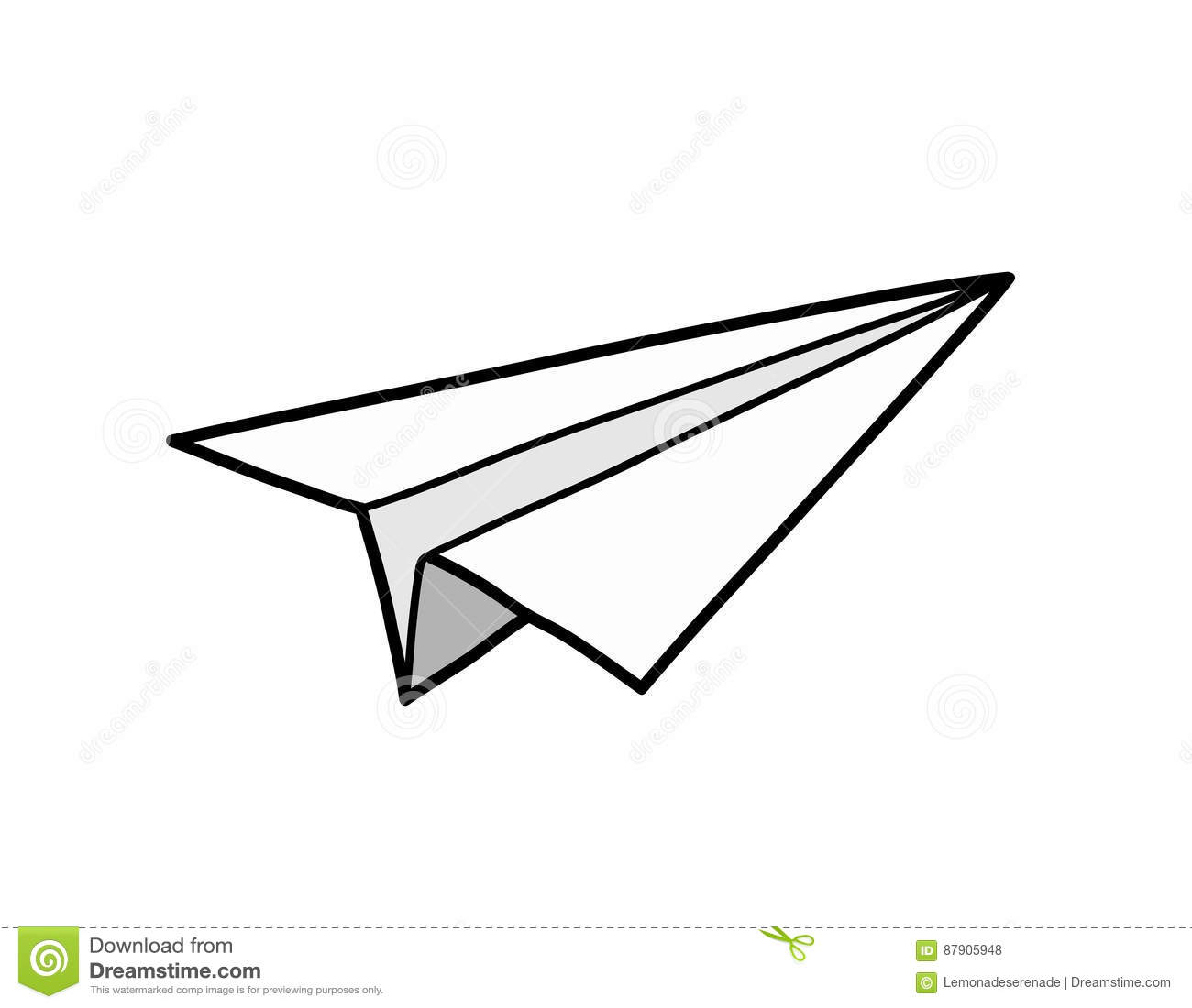 Origami Paper Airplane Stock Vector Illustration Of