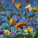 Original Oil Painting Of Flowers Beautiful Field Flowers On Canvas Modern Impressionism Flower Fine Art Stock Illustration Illustration Of Modern Original 174834202