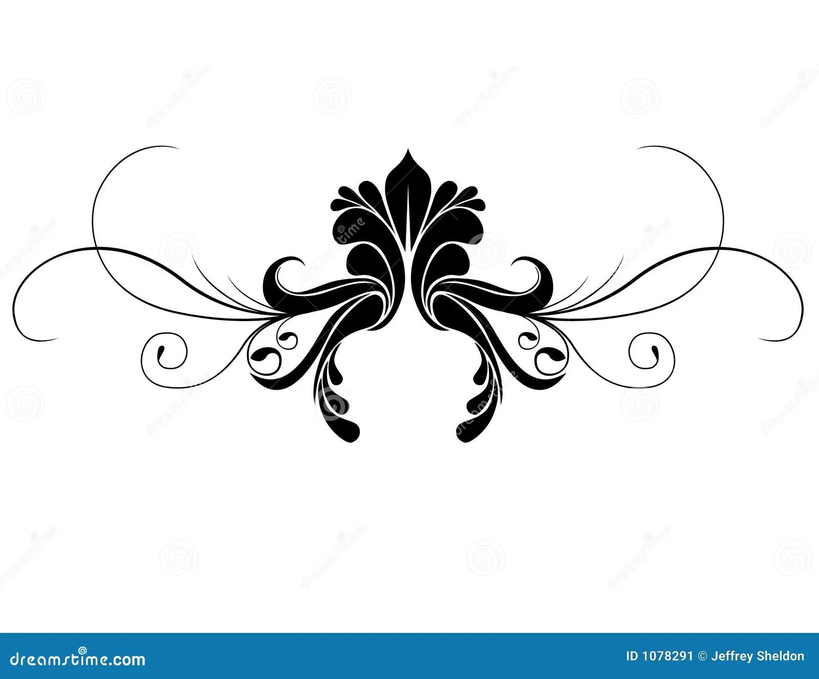 Ornament Zwoju Ilustracja Wektor Ilustracja Z O Onej Z