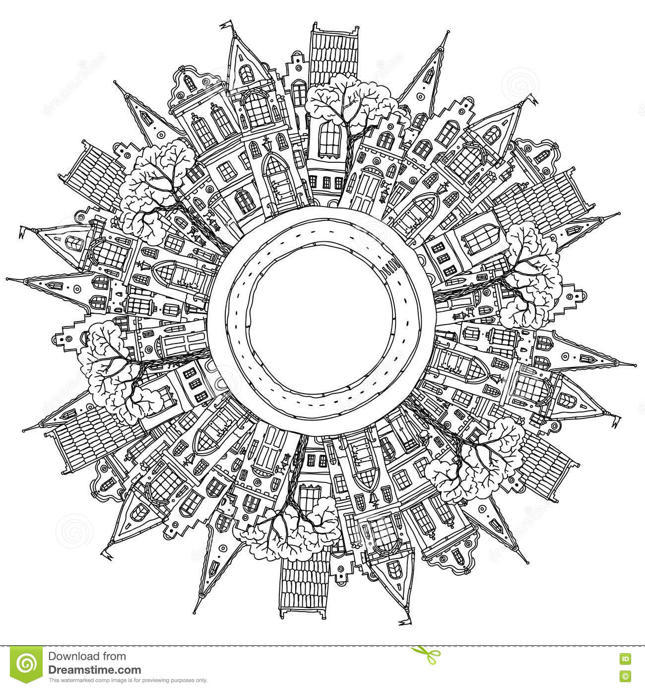 Urban Building Coloring In Coloring Pages