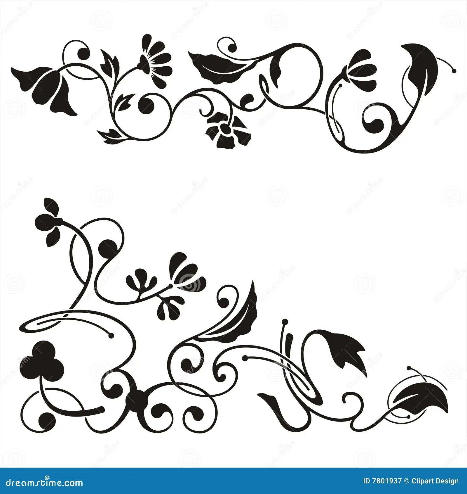 Ornamental Corner Designs Stock Illustration Image Of