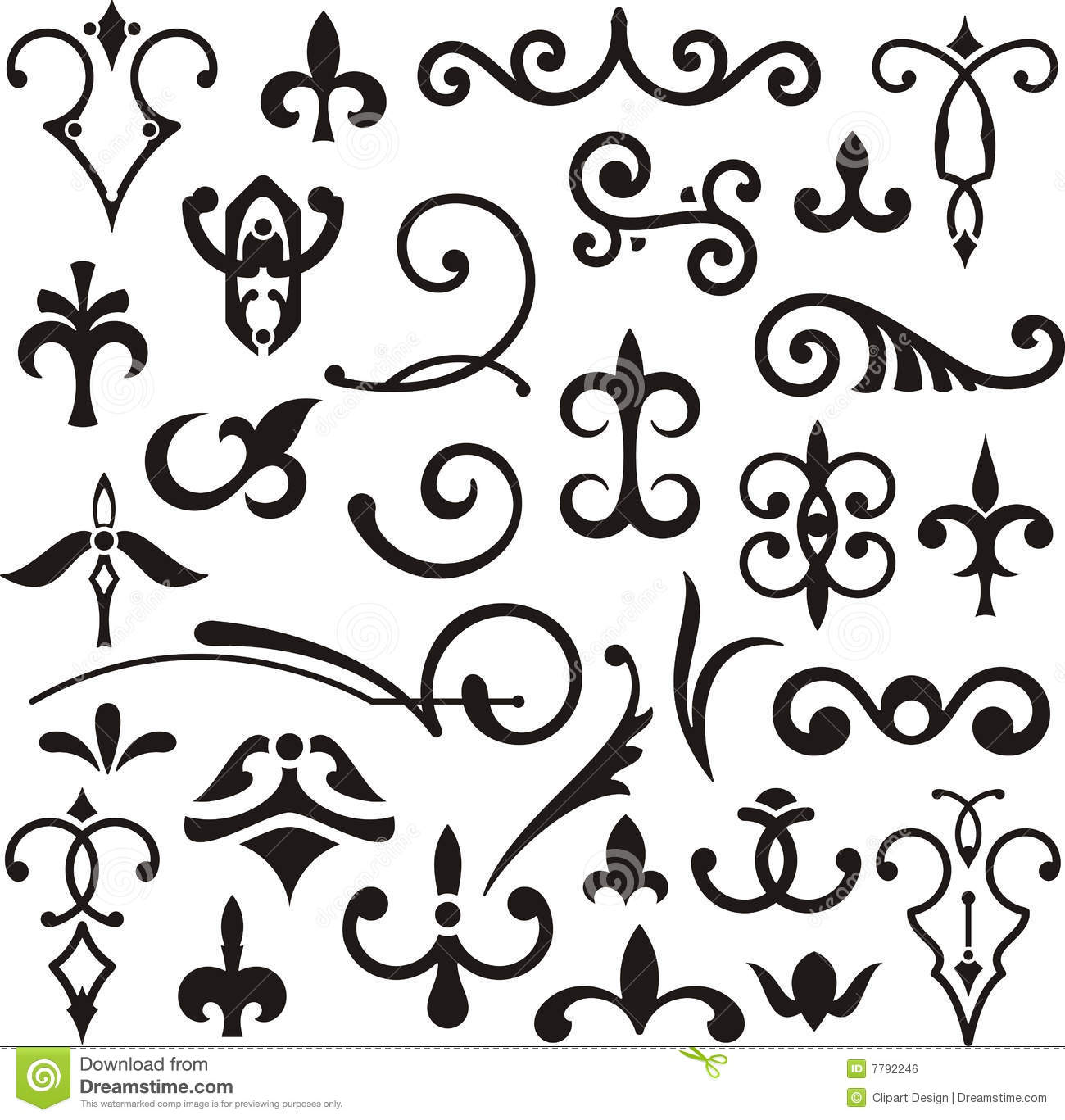 Ornamental Design Elements Stock Illustration