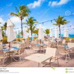 Outdoor Cafe On Tropical Beach Stock Image Image Of Exterior Luxury 43583283