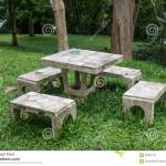 Outdoor Marble Table And Four Chairs Stock Image Image Of Atmosphere White 59481131