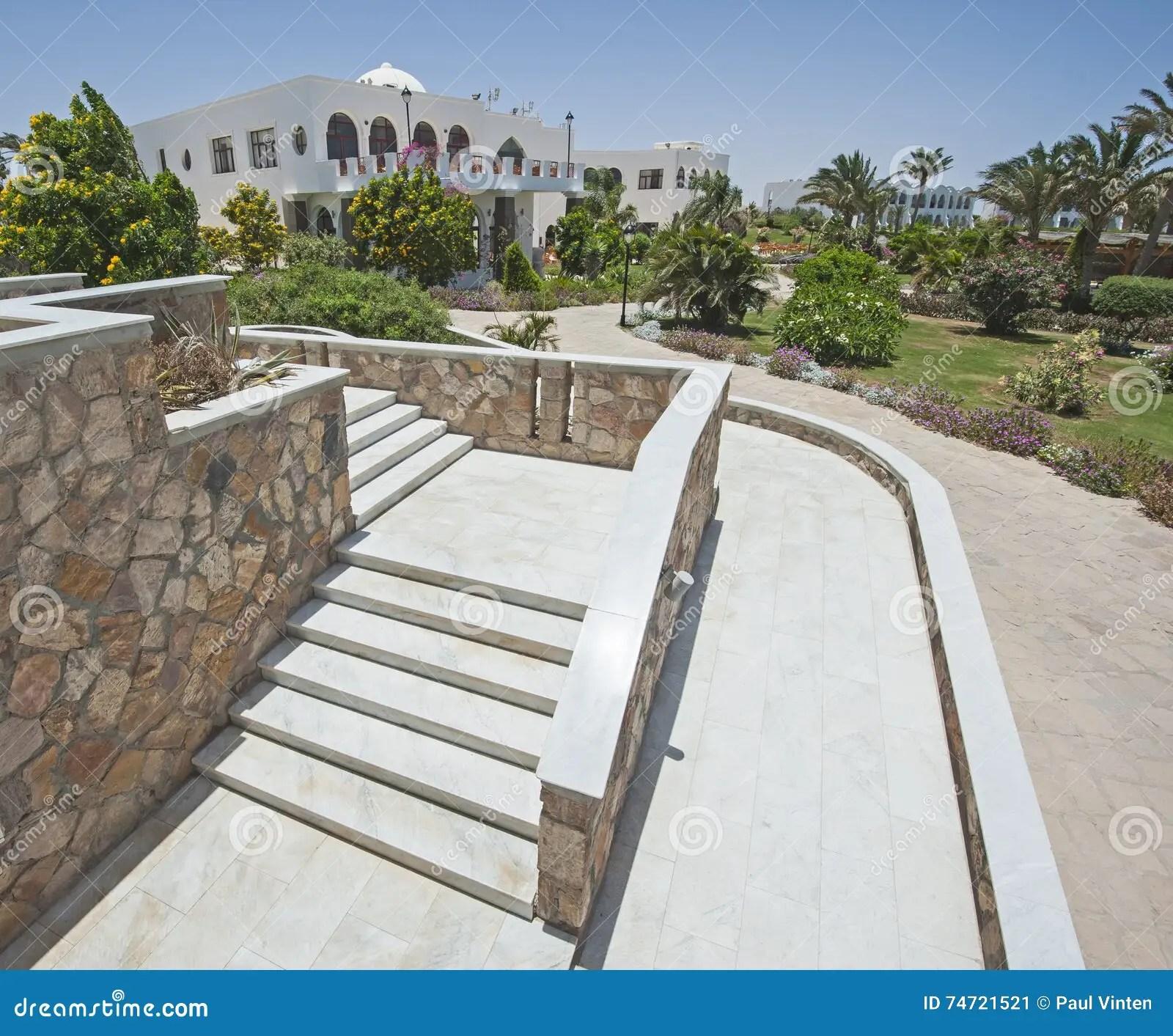Outdoor Steps On Raised Patio Area Stock Image - Image of ... on Backyard Patio Steps id=64649