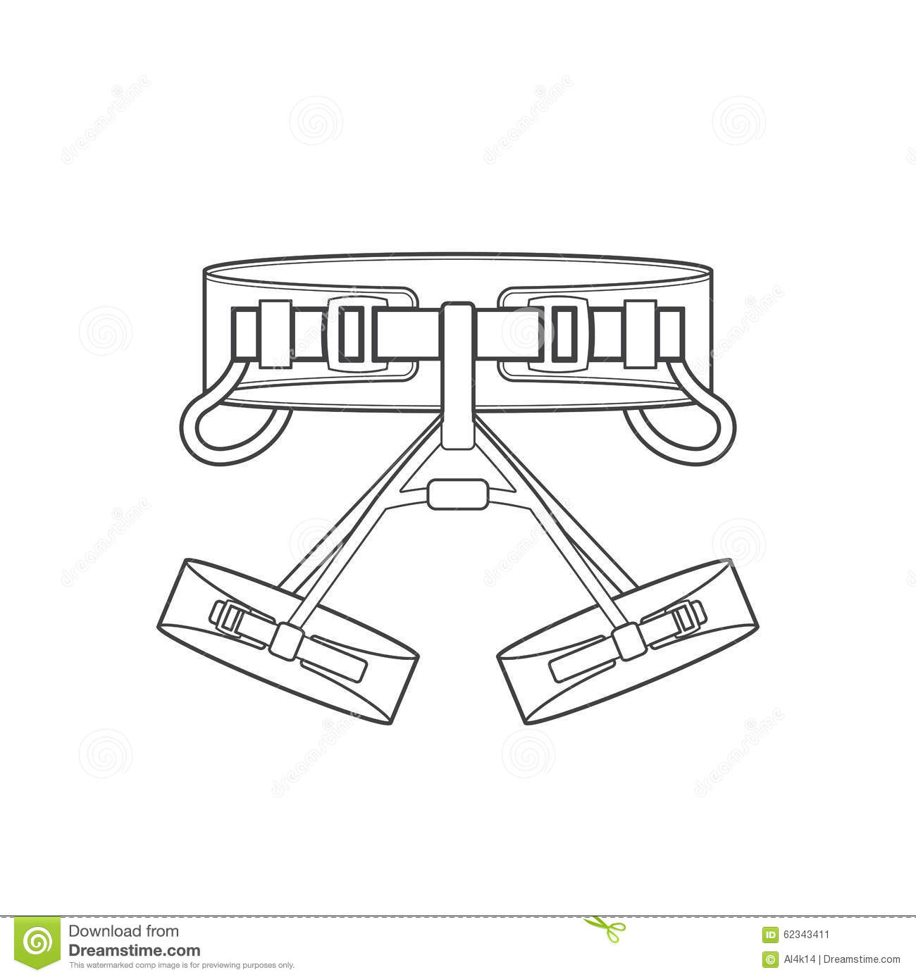 Outline Alpinism Equipment Harness Icon Illustration Stock