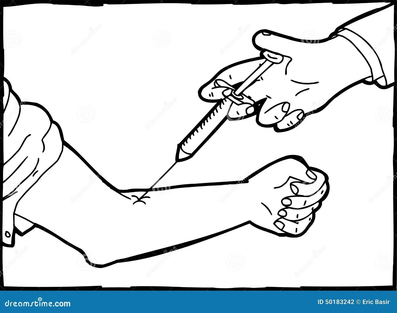 Blood Draw Needle Cartoon