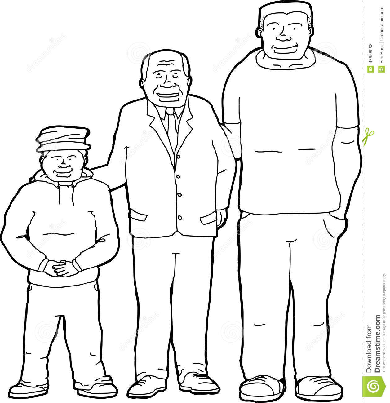 Outline Of Father With Offspring