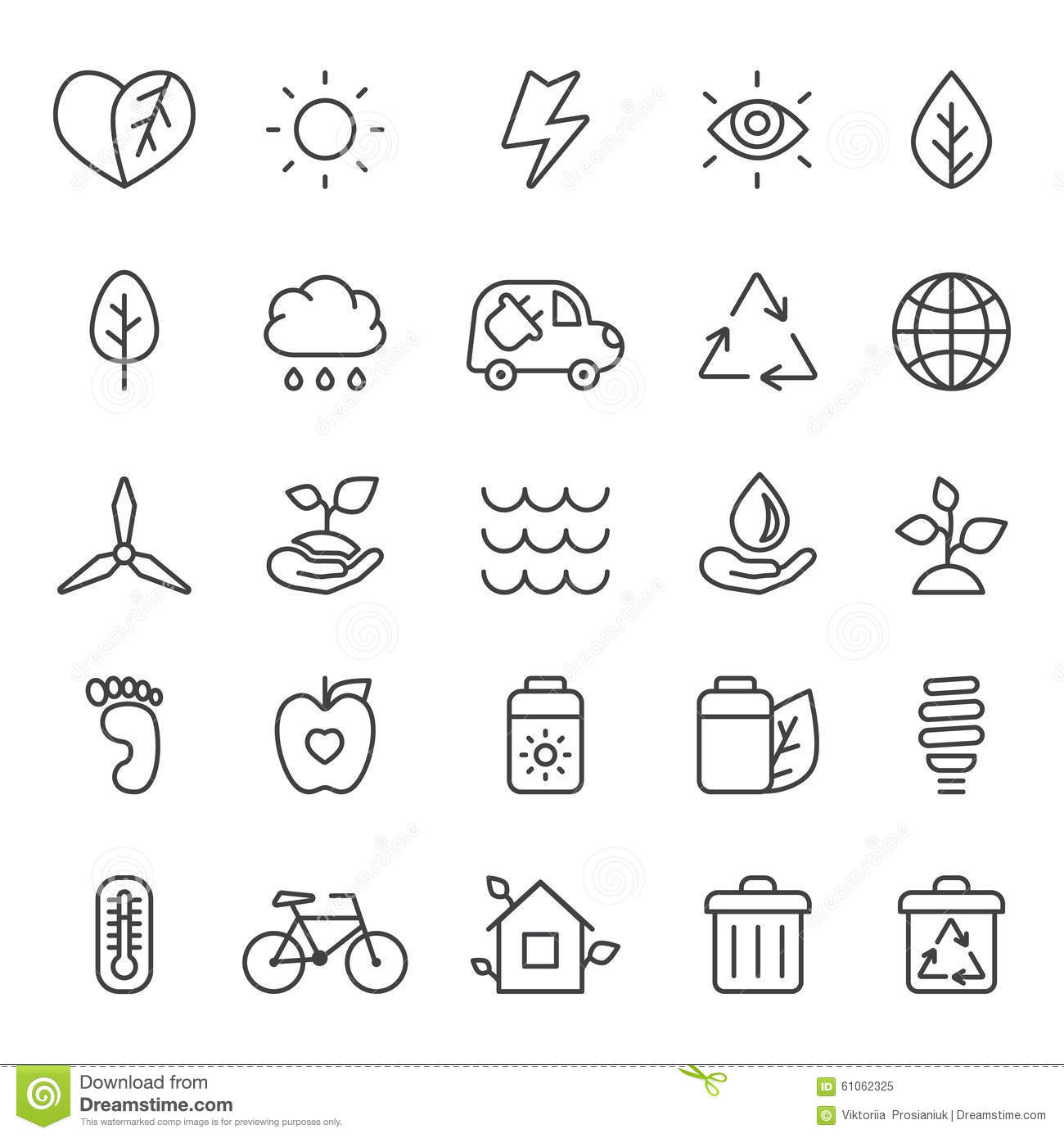 Electric Car Icon Outline Style Cartoon Vector