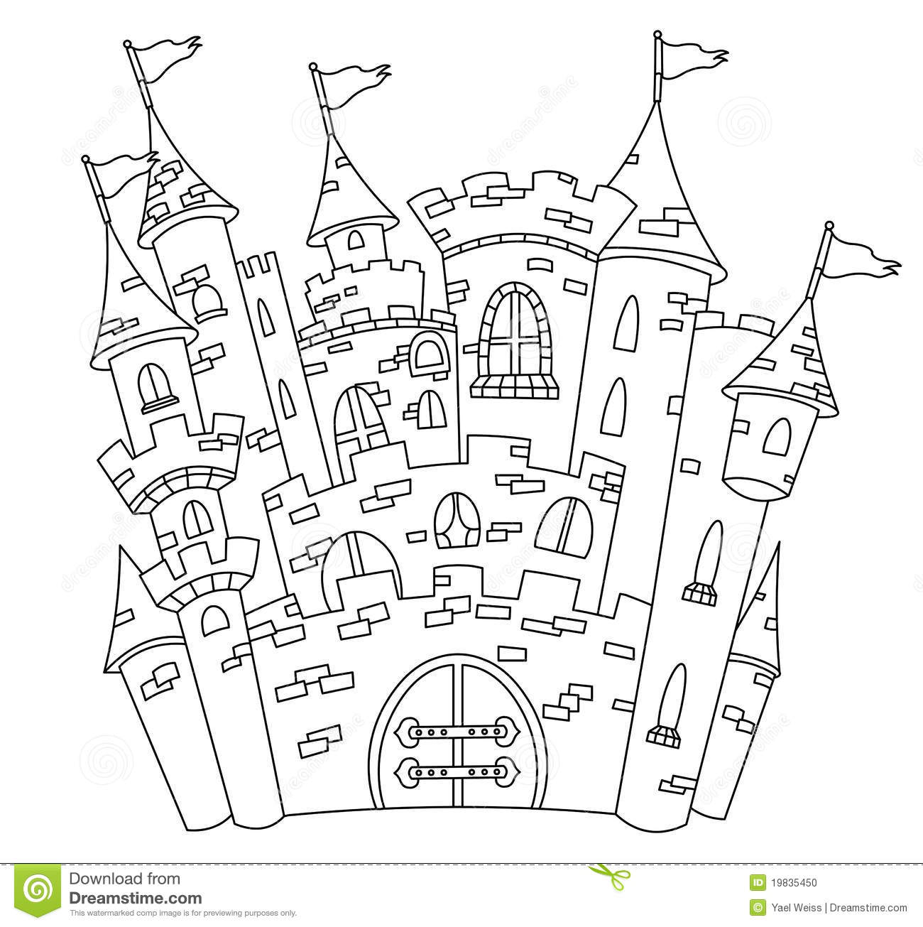 Outlined Castle Stock Photo Image 19835450