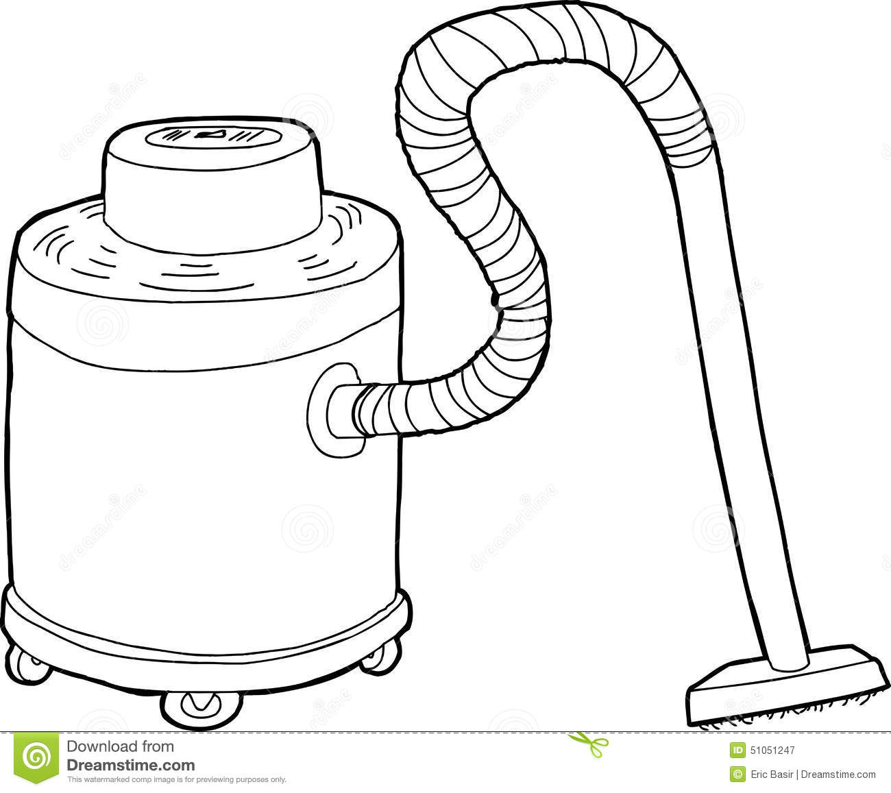 Outlined Large Vacuum Stock Illustration Illustration Of