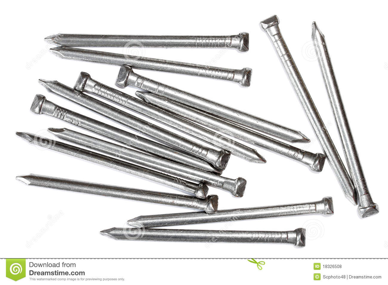 Oval Steel Wire Nails Stock Photo Image Of Steel