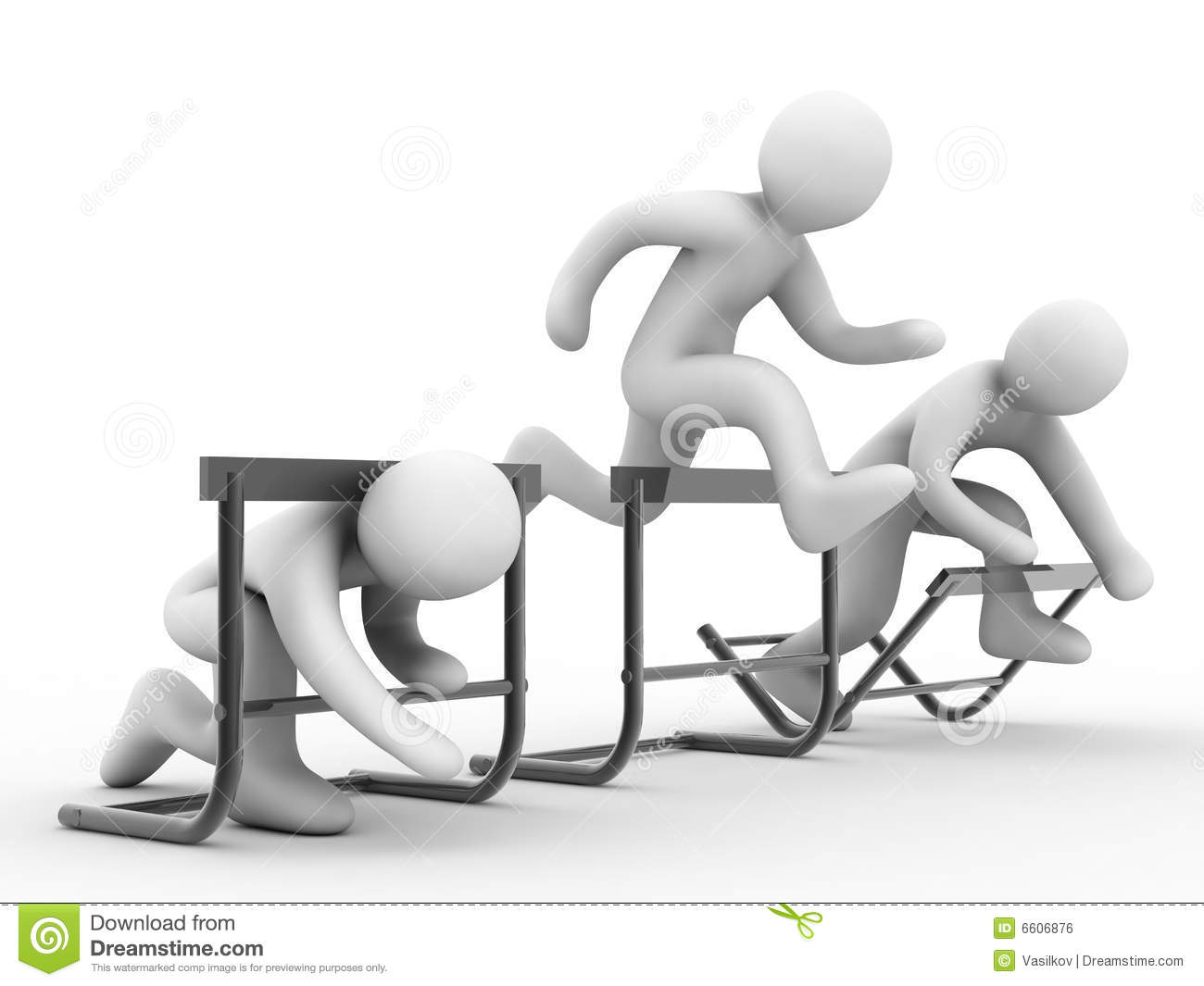 Overcome Barriers Stock Illustration Illustration Of