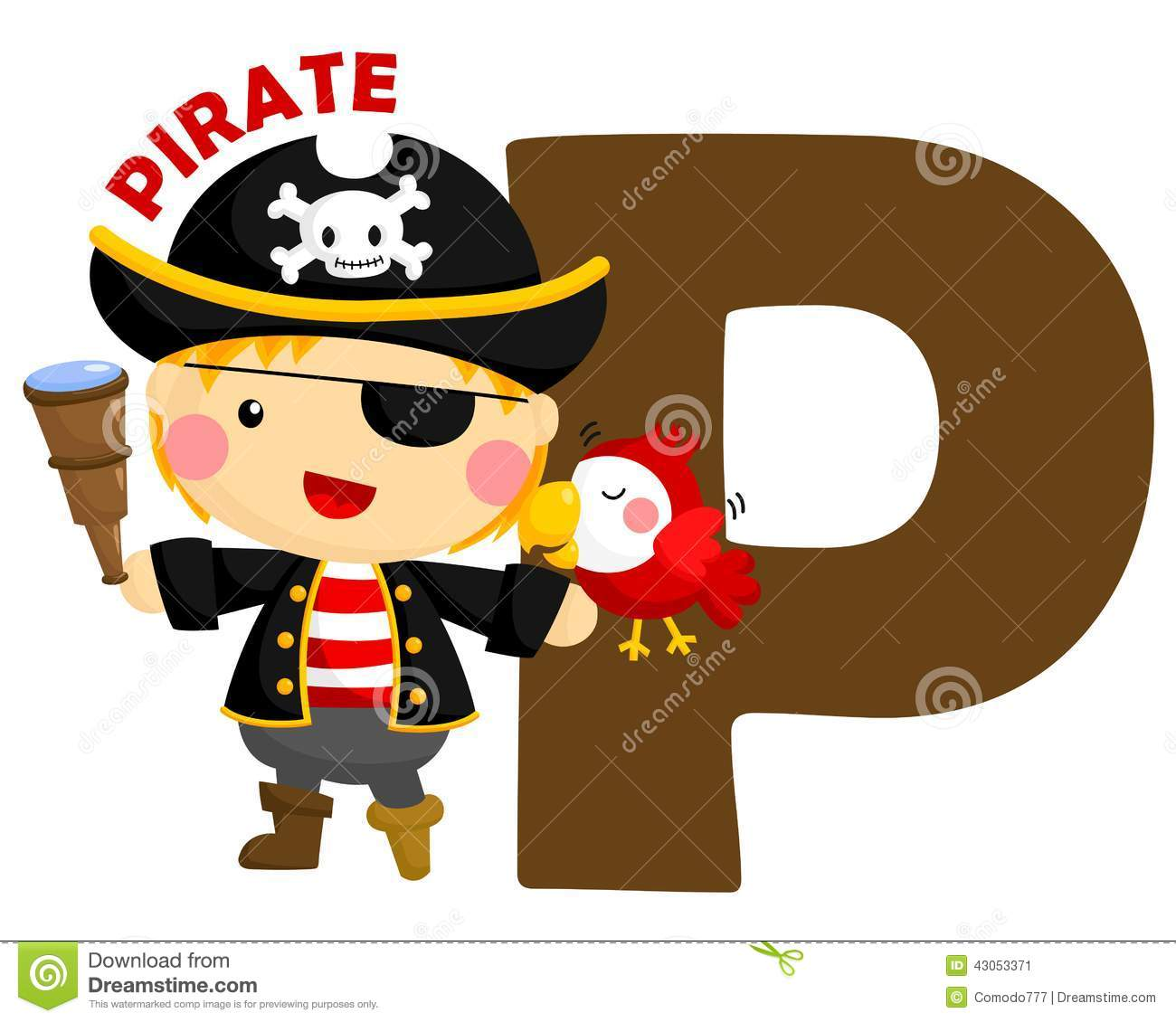 P For Pirate Stock Vector Illustration Of Fantasy