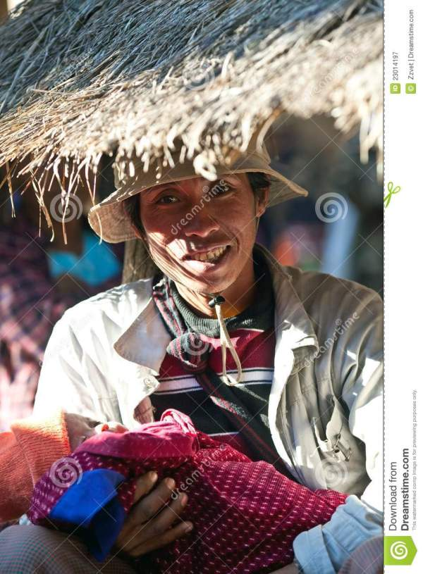 Pa-O tribe people, Myanmar editorial photography. Image of ...