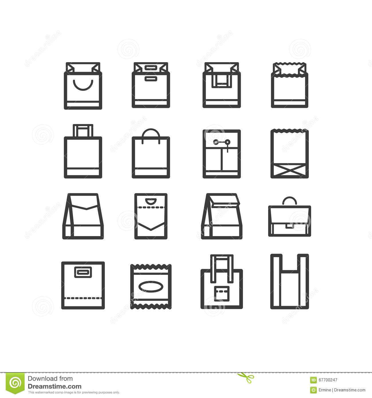 Package Icons Line Icon Set Of Boxes And Package Objects