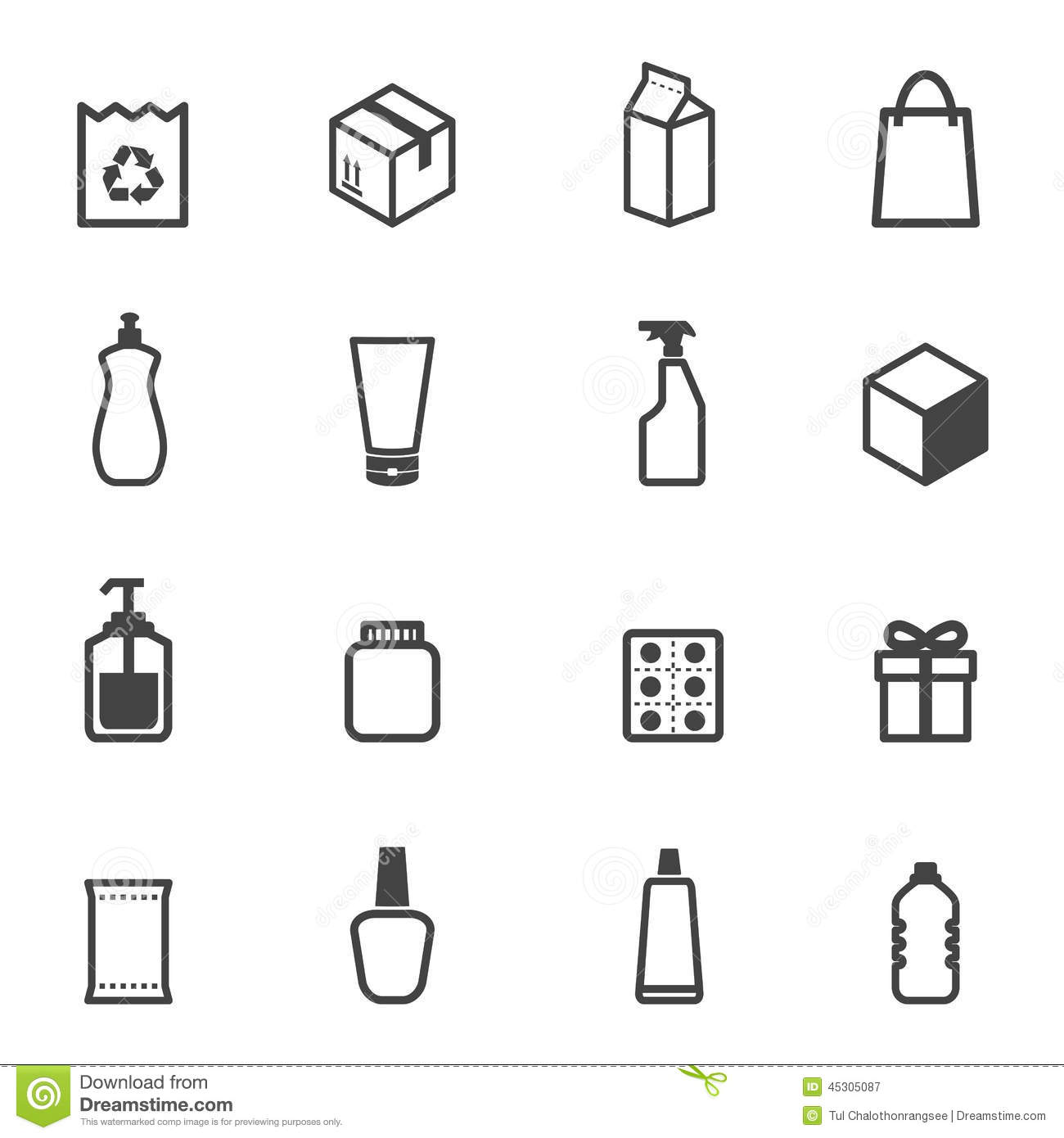 Packaging Icons Stock Vector Illustration Of Icons Black