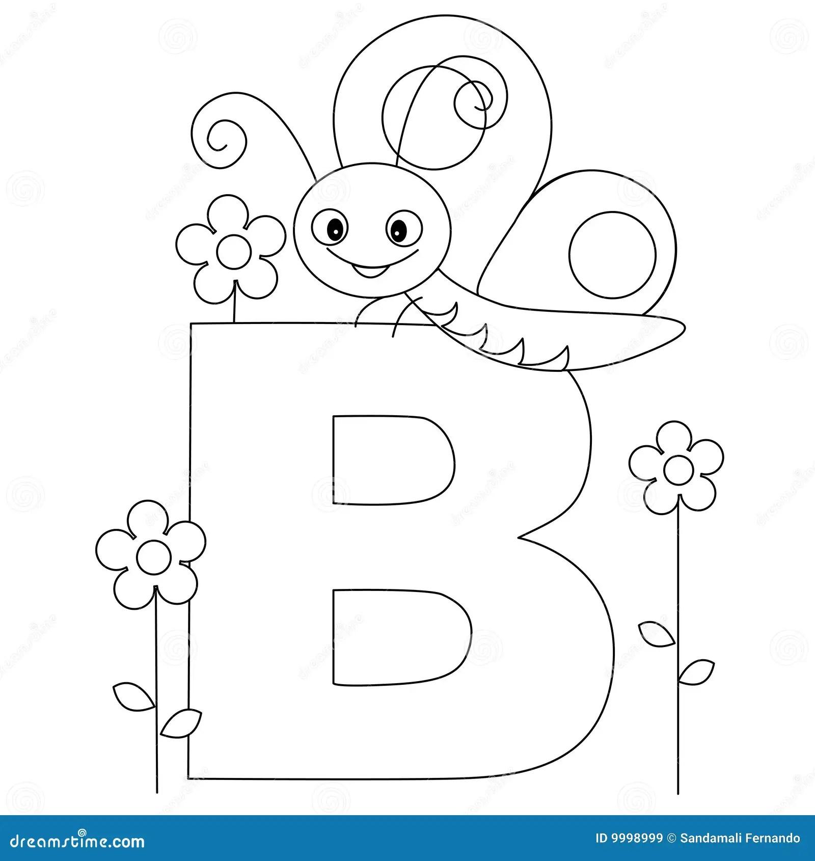 Page Animale De Coloration De L Alphabet B Illustration De